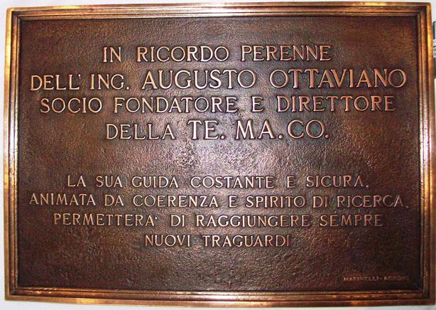 Targa in bronzo di augusto ottaviano