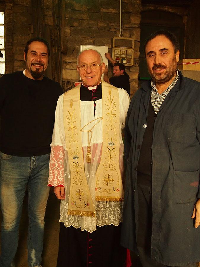 Fratelli Marinelli con Mons. Liberio Andreatta