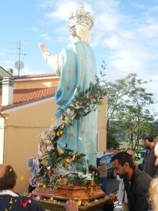Statua madonna Provvidenti